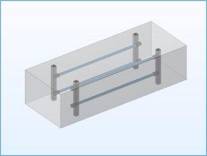 Figure 2 - A basic HVAC conduit CAD model